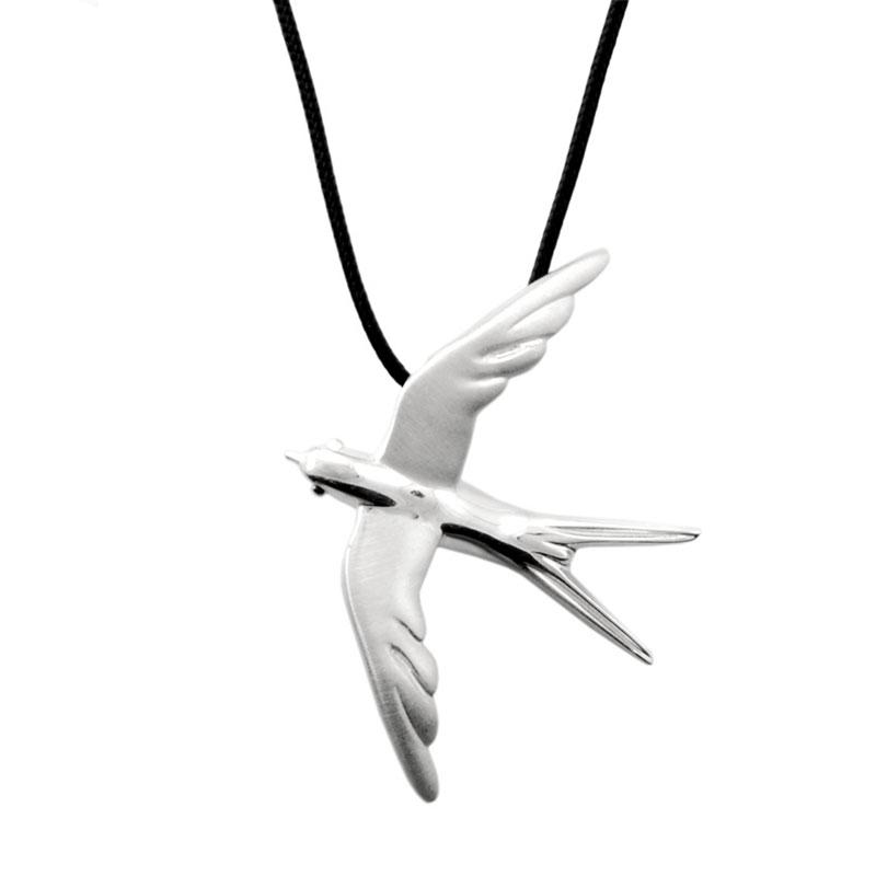 Swallow Pendant Silver - size L