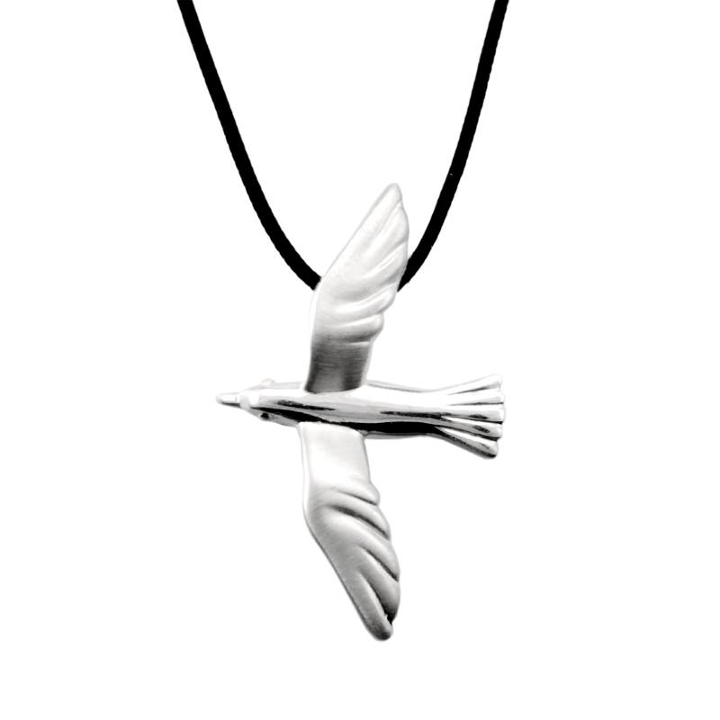 Seagull Pendant Silver - size L