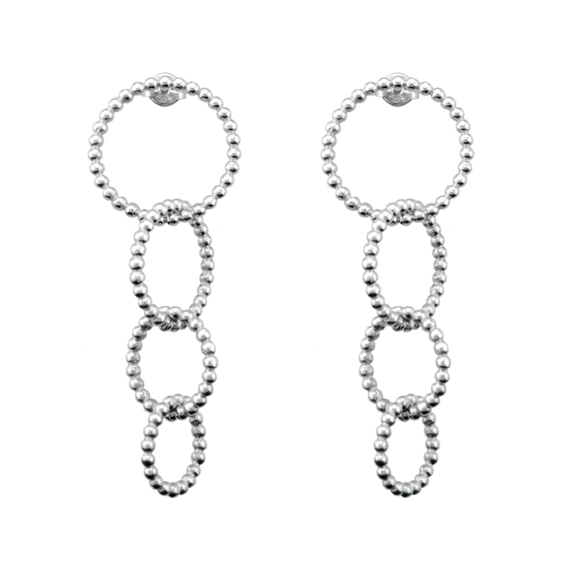 earrings pakistan crystal asymmetric long silver online chain in buy