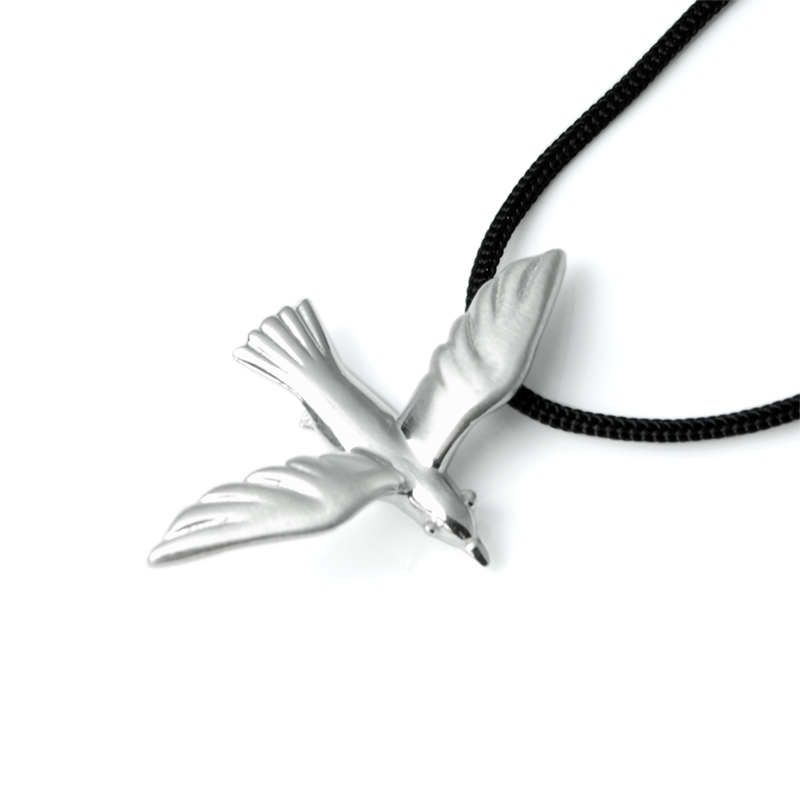 Seagull pendant silver size s spiky leaves seagull pendant silver size s mozeypictures Images