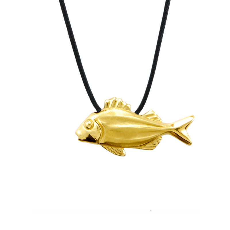 Fish Pendant Gold Plated Silver