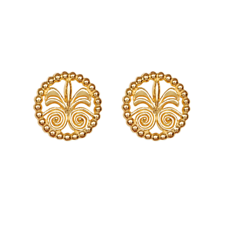 Floral Stud 18K Gold Earrings