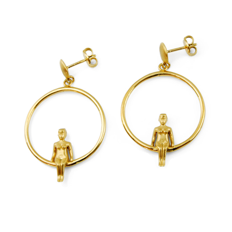 Venus Earrings 18K Gold 1
