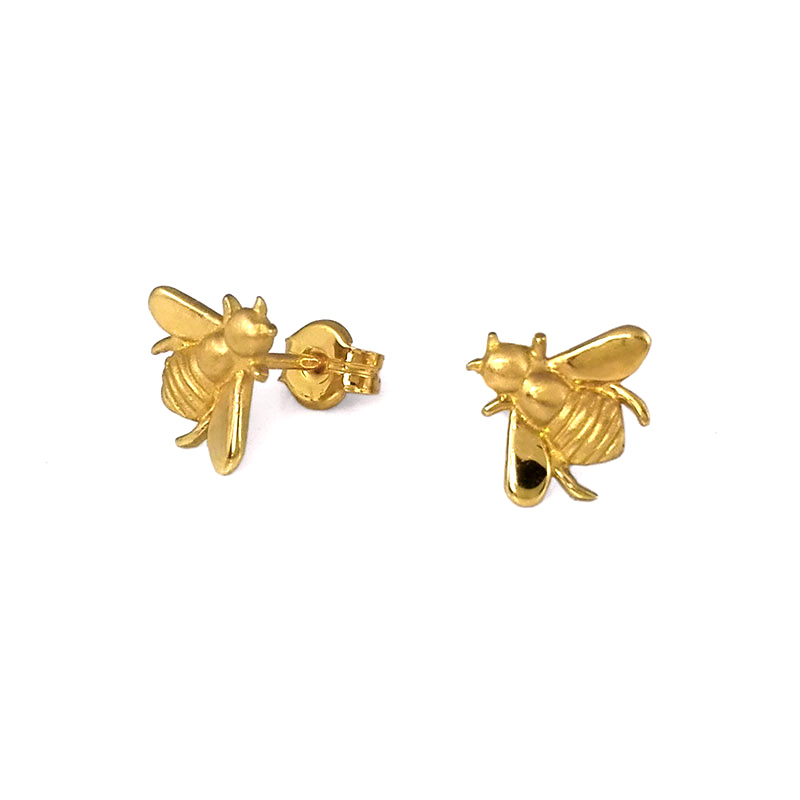 earrings tin shaped stud sun sunshaped golden plating nologo gold alloy product