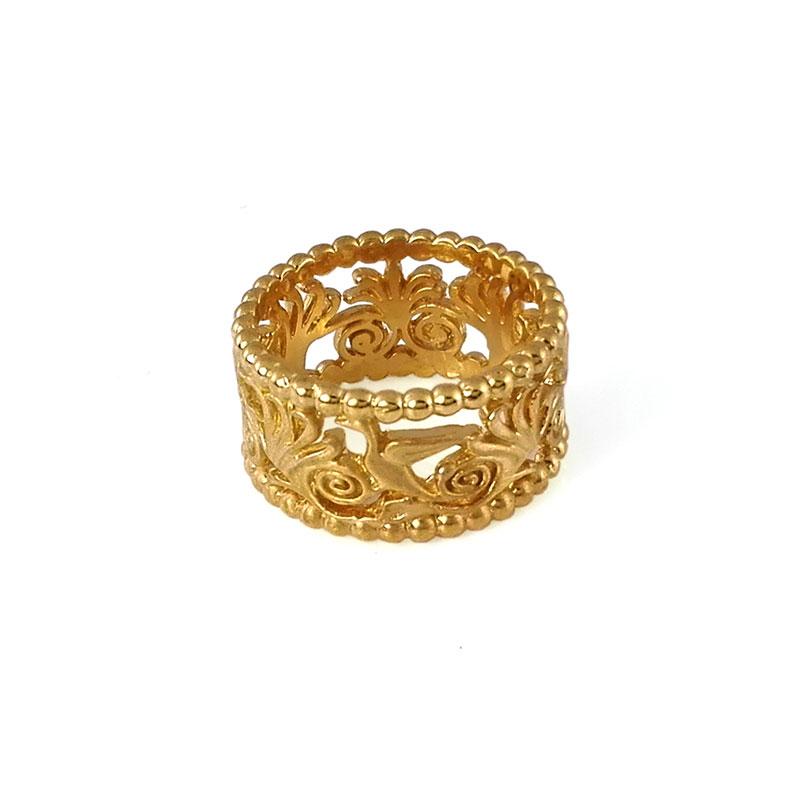 Floral Ring 18K Gold
