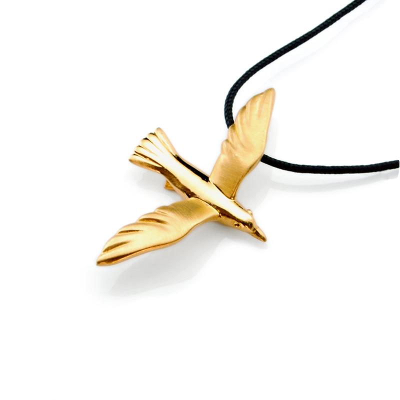 Seagull Pendant 18K Gold